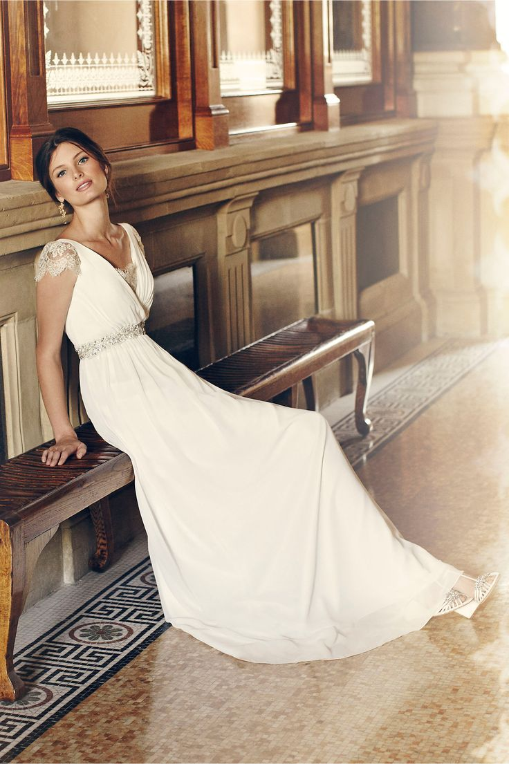 how much does the average wedding dress cost australia%0A Evangeline Dress from BHLDN u    s new fall lookbook
