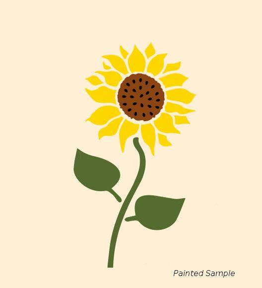 """Details About 5 1/2"""" SUNFLOWER STENCIL SUNFLOWERS FLOWER"""