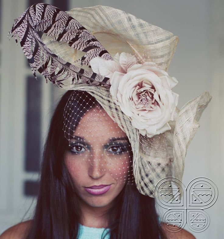 The Joana Headpice, ARE YOU READY FOR ASCOT??? available at www.catavassalo.com 160€ perfect for a sophisticated wedding, ideal with a jumpsuit :)