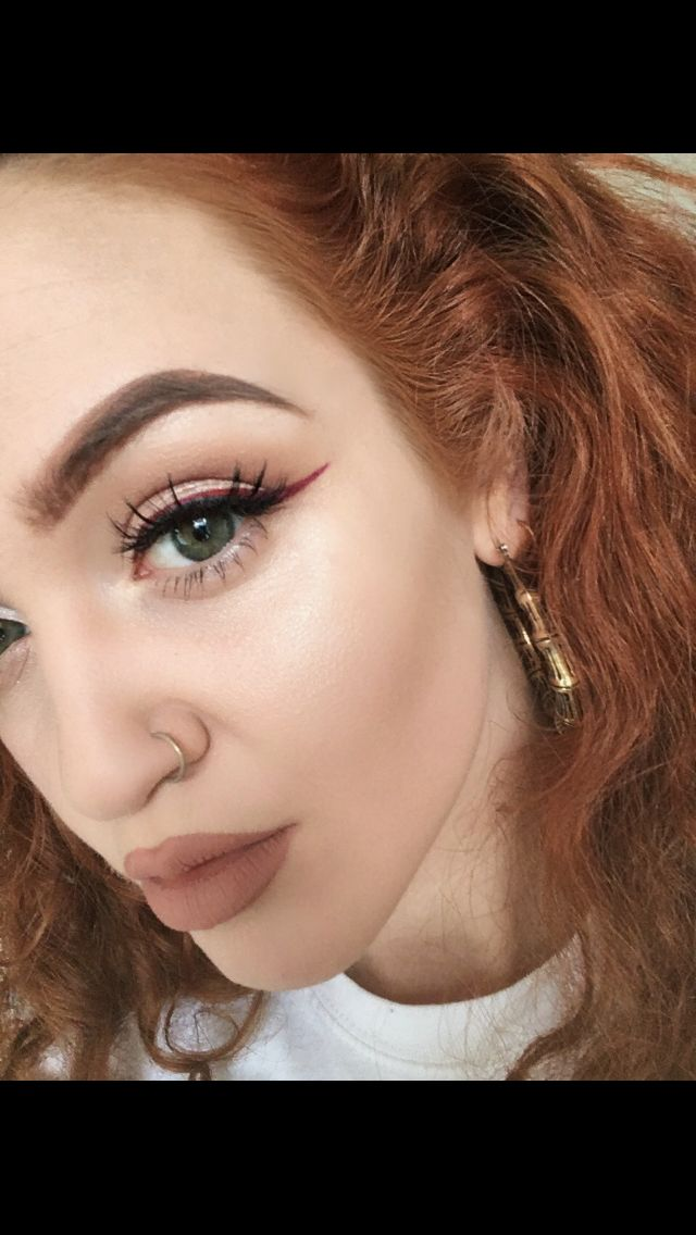 Eye Red eyeliner make up ideas face nude daytime casual
