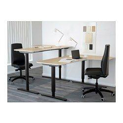 Les 25 meilleures id es concernant bureau d angle noir sur for Ikea assis stand bureau canada