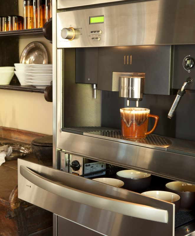 Built In Coffee Maker Connected Directly To Water Line To