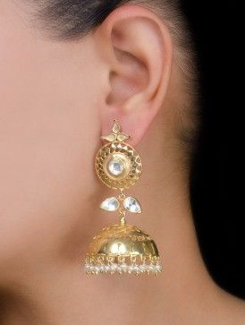 Ethno Silver Jhumkis