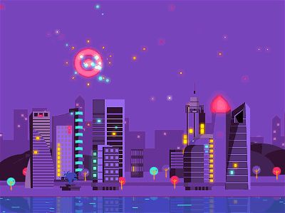 Dribbble - City Night by Jesse Sliter