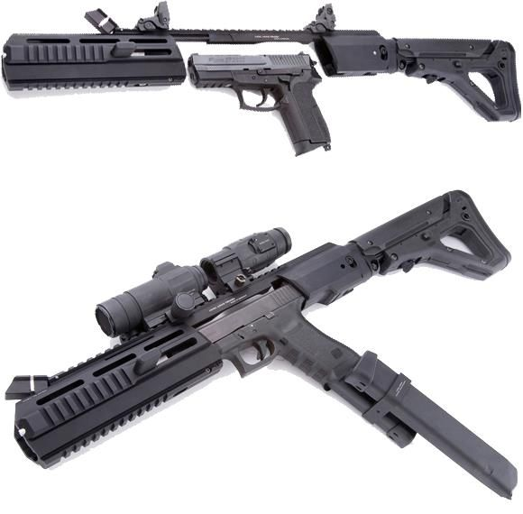 The Triarii from Hera Arms is a pistol to carbine stock conversion system. It takes about 4 seconds to install and your ready to fire. Fits ...
