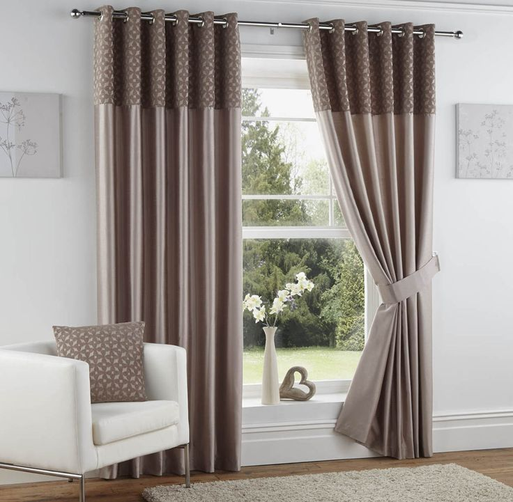 Woburn Ready Made Eyelet Curtains Mink