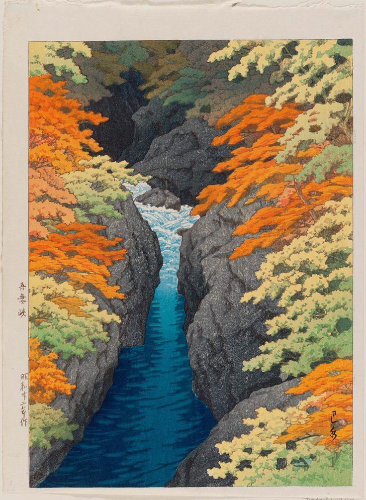'Azuma Gorge' (1947). Woodblock print by Kawase Hasui (1883–1957). Image and text courtesy MFA Boston.