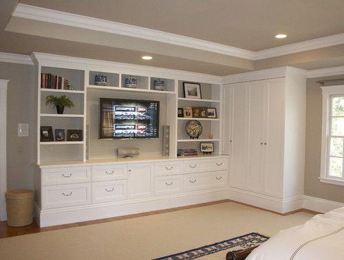 built ins master bedroom - Google Search