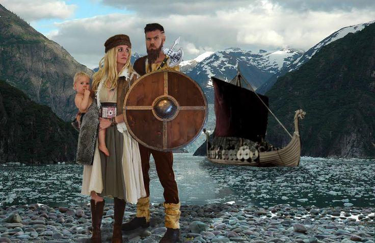 halloweek halloween family costume vikings ragnar lothbrook