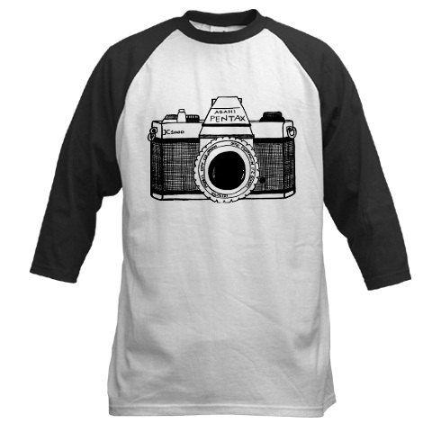 Long sleeve Tee, Baseball tee, Unique T shirt, unisex adult T shirt, Custom baseball tee, Screen Tshirt, printed T shirt - Vintage camera on Etsy, $18.00