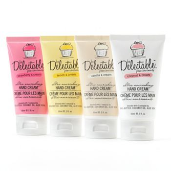be Delectable from Cake Beauty Hand cream, coconut and cream is my fav! I always have a hand cream in my purse.