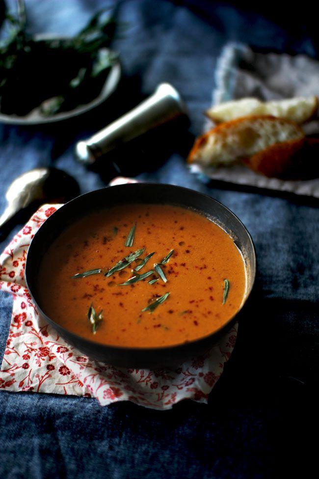 Tomato Soup with Fresh Tarragon