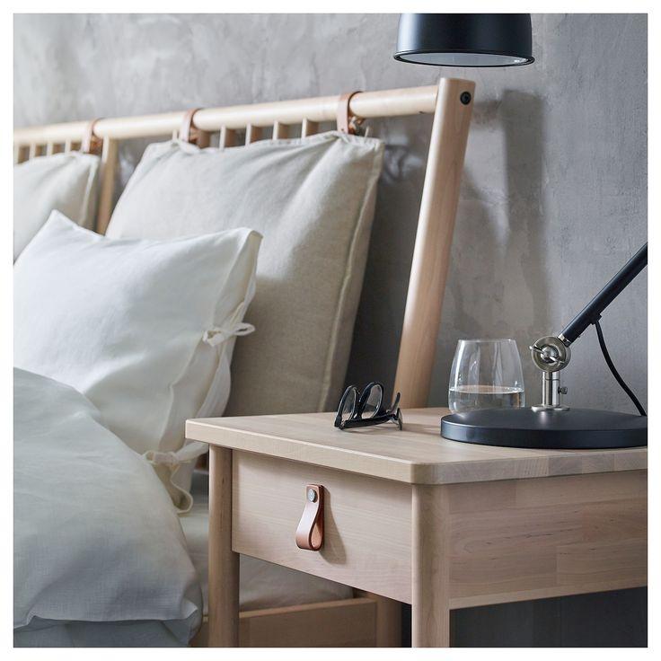 BJÖRKSNÄS Nachtkastje, berken Interior Design Bedrooms