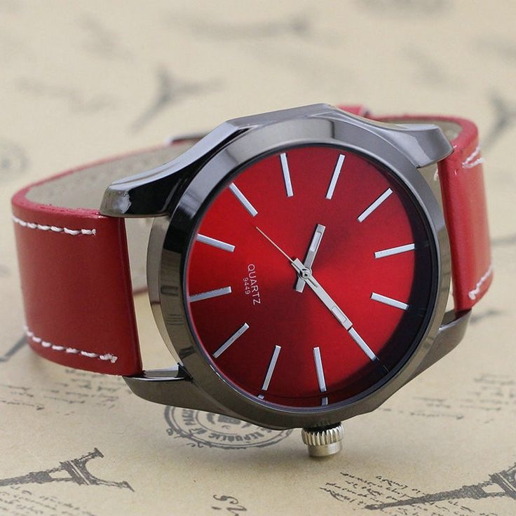 Military modern vintage mix, style red watch for men