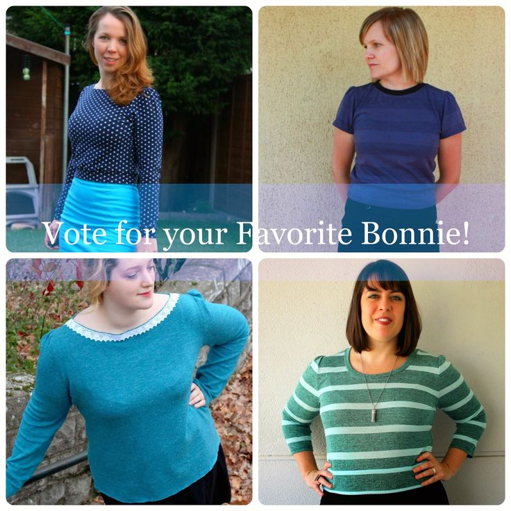 The Bonnie sew-along - Voting time!!!!