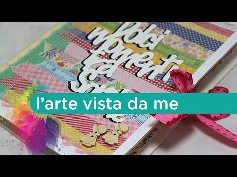 "Scrapbooking Tutorial:Accordion Mini Album ""Dolci momenti tra sorelle""-Album portafoto Fai da te - YouTube"