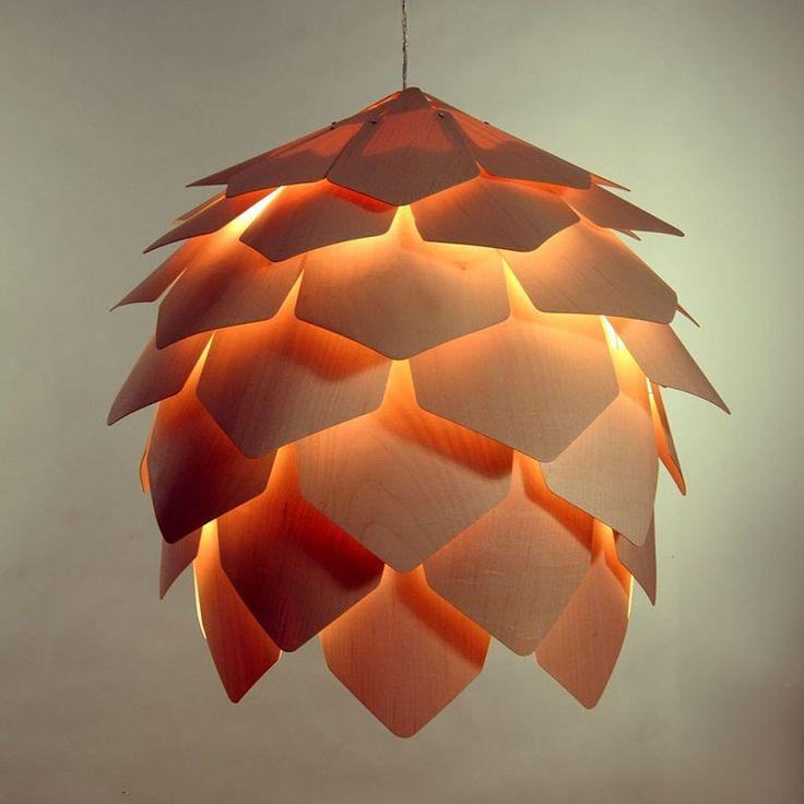 Pinecone Wood Design Pendant Lighting