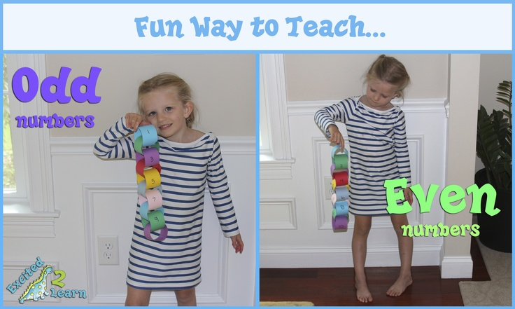 Paper chains are an excellent way to explain to children what odd and even numbers are as well as practice skip counting by 2s. #teaching