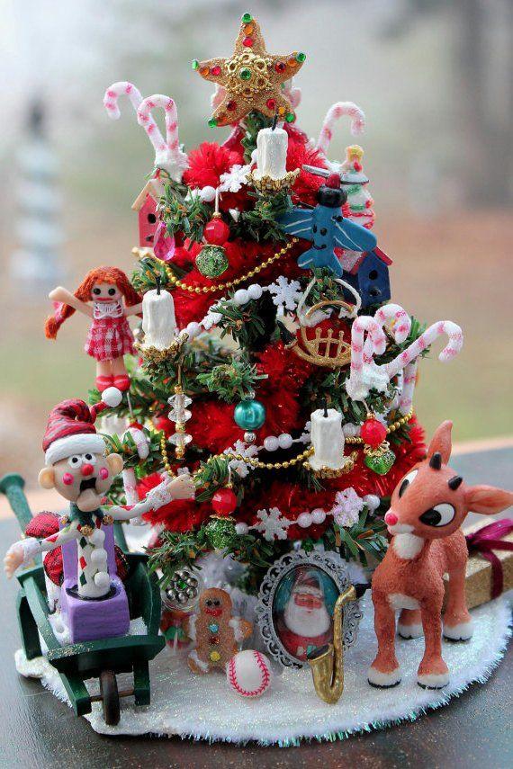 Dollhouse miniature christmas tree   Miniature christmas ...