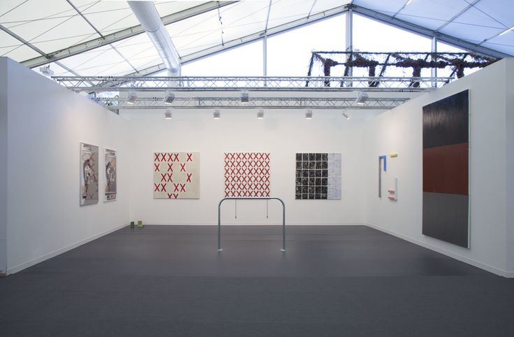 Strauss Bourque-LaFrance, Louis Cane, Claire Fontaine, David Maljković, installation view at Frieze Art Fair, London 14-17 October 2015