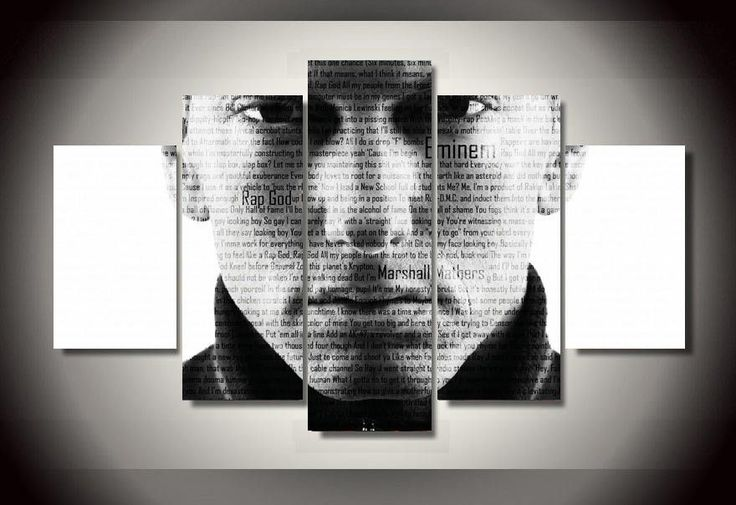 Large Framed Eminem Rap Canvas Print