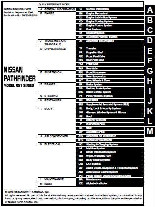 2007 Nissan Pathfinder Service and Repair Manual