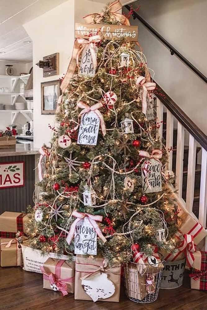 45 Awesome Christmas Tree Decorating Ideas Christmas Decorations Rustic Tree Christmas Decorations Christmas Diy