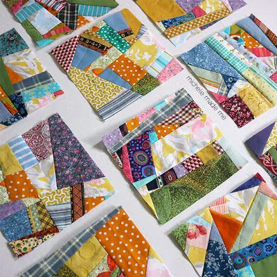 scrappy squares! Stitched in Color