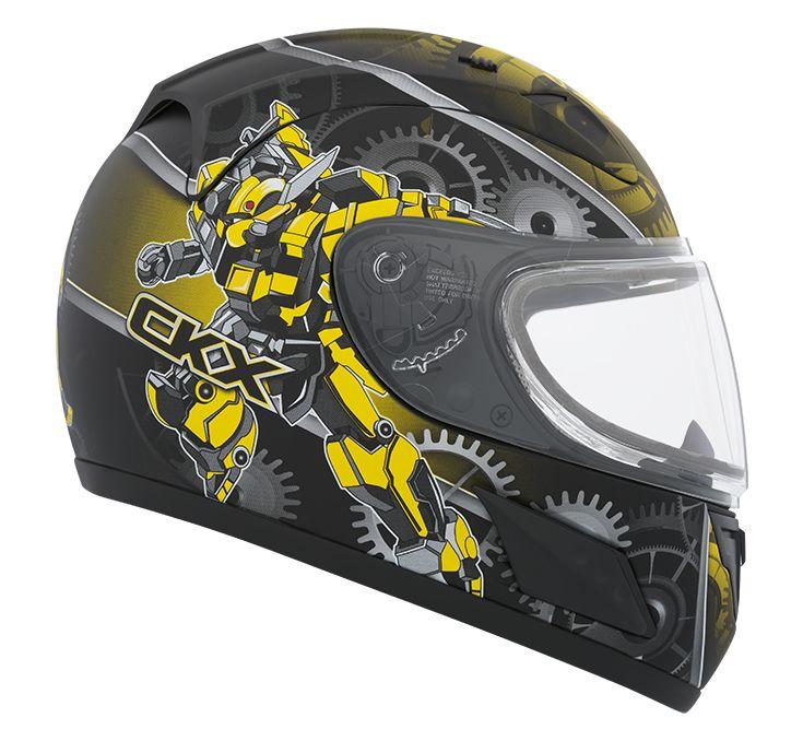 CKX 2016 - Full-Face Winter Helmet - RR601Y Mat Mecanic Yellow Mat - ckxgear.com