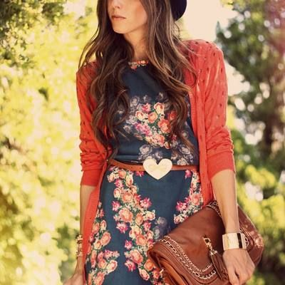 dress and cardi