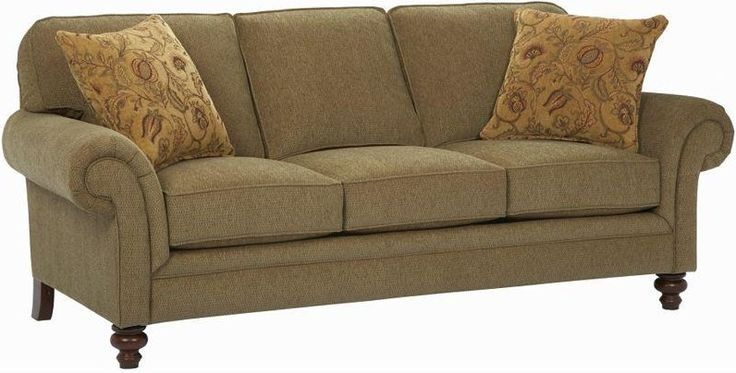 Broyhill Furniture Larissa Upholstered Stationary Sofa with Rolled Arms - Becker Furniture World - Sofa