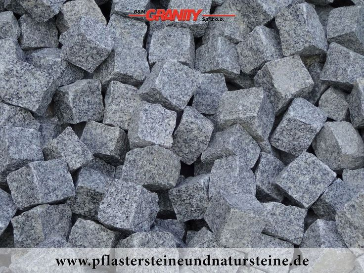"""B&M GRANITY - Winter-Rabatt - frostbeständige, polnische Pflastersteine aus Granit (grau, gespalten, """"Salz und Pfeffer""""), Granit-Pflastersteine http://www.pflastersteineundnatursteine.de/fotogalerie/pflastersteine/"""