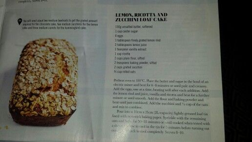 Ricotta and zucchini loaf cake