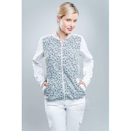 Odzież medyczna dla kobiet. | Bluza damska we wzory 1511c - z pewnością będzie to strzał w 10-tkę dla pielęgniarek i lekarzy. | Sklep internetowy Dersa |