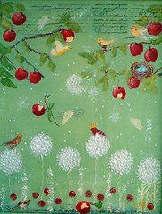Jo Roffe - Enchanted Garden. Oils on canvas