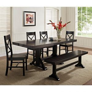 Black Kitchen Table Sets With Bench