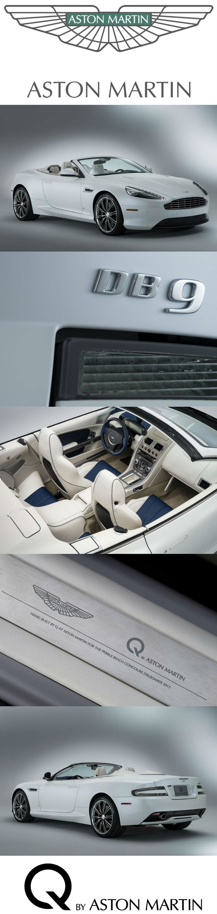This Q by Aston Martin DB9 Volante embodies the calm palette and evocative imagery of the SoCal lifestyle. Developed along a nautical theme, taking the clean lines of a superyacht as inspiration, with Pure White Satin paint and bright metal detailing. Discover more about Q by Aston Martin