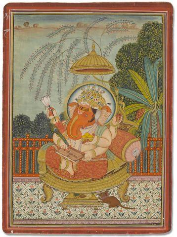 Ganesha enthroned Bikaner, 19th century