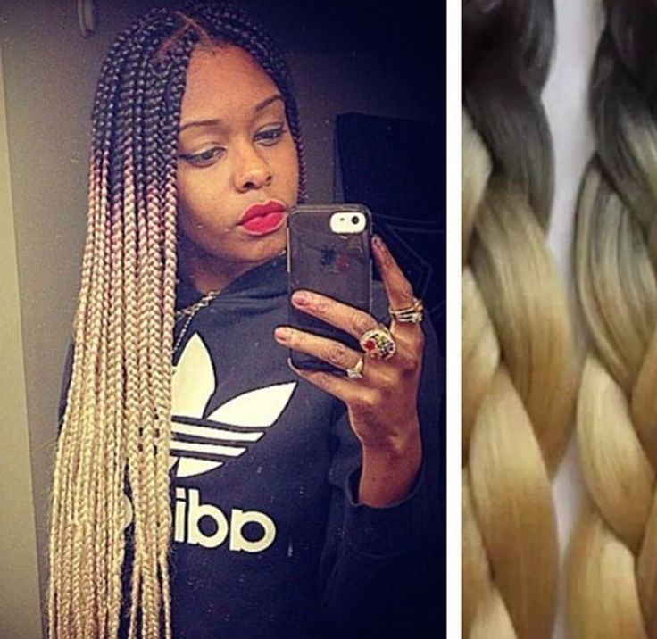 BLONDE Ombre Box Braids! Find similar hair here... http://s.click.aliexpress.com/e/3fieie6AY