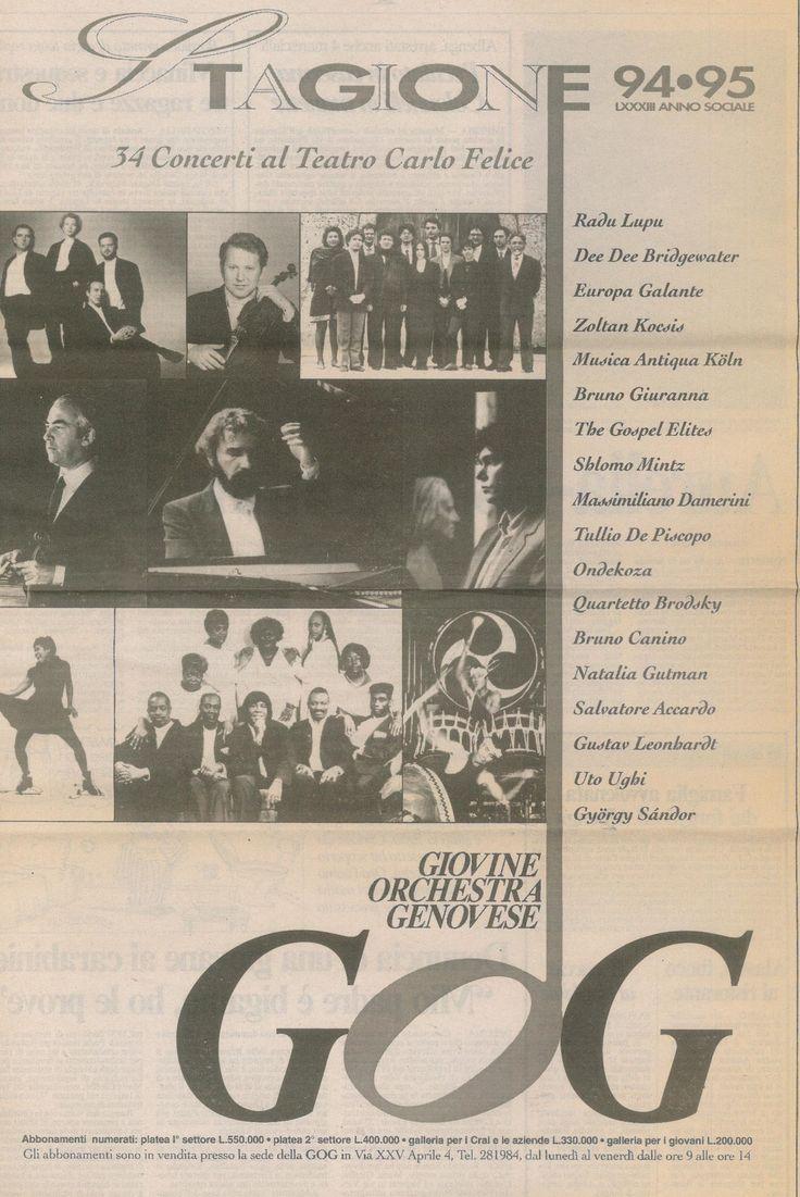 Locandina della stagione GOG 1994-95