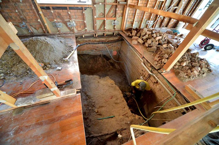 Excavation for new staircase