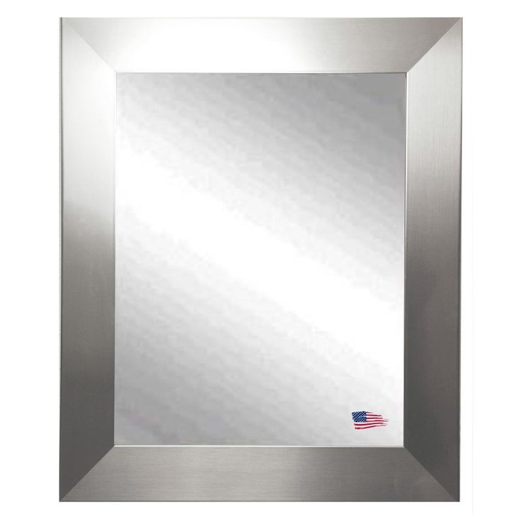 Rayne Mirrors Modern Stainless Silver Wall Mirror - V003S
