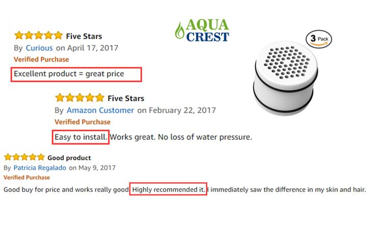 shower water filter with 5 stars reviews