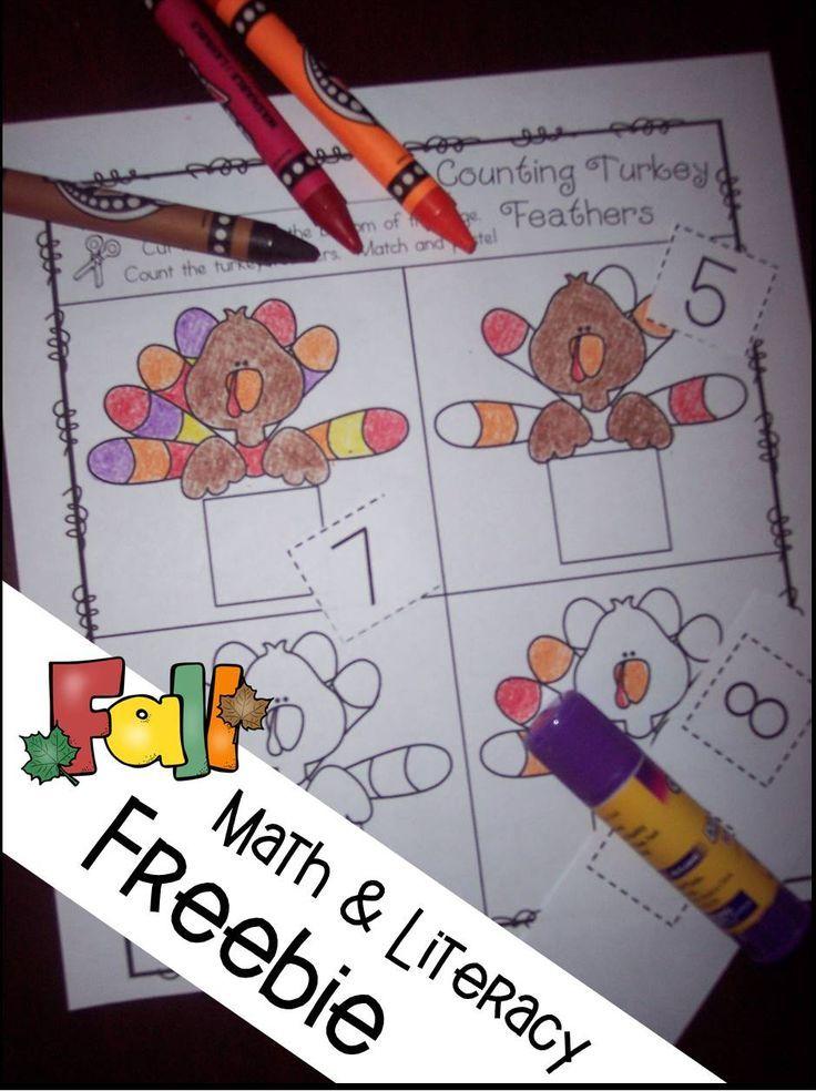 Thanksgiving math freebies