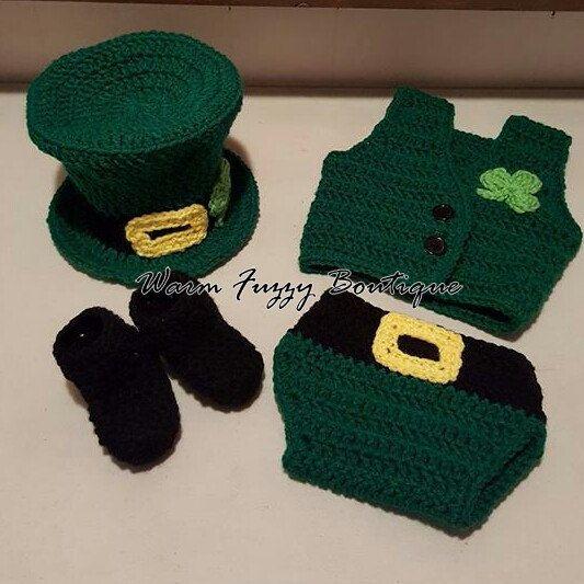 #Etsy Order for Erica H! #SALE! #StPaddysDay #4leafclover #leprechaun #rainbow #irish #lucky #shamrock #baby #crochet #photography #love #boy #girl #followme #christmas #halloween #newborn #warmfuzzyboutique