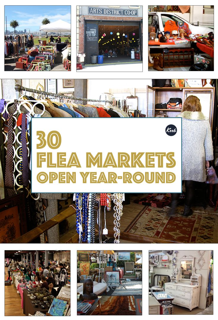 Some of our favorite flea markets across the US that stay open all year.