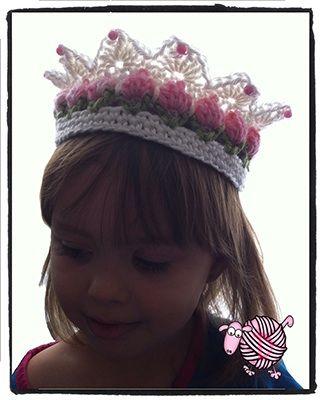 Crochet Flower Girl Crown - Dearest Debi Patterns