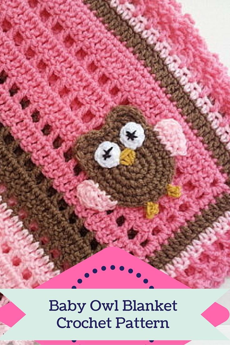 If you crochet and love to give gifts, you can't go wrong with this Baby Owl Blanket crochet pattern. There are pictures included in the pattern for easy follow along. There are so many color possibilities! http://poochie-baby.com