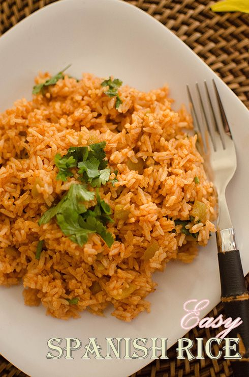 Simple Spanish Rice {with Enchilada Sauce}