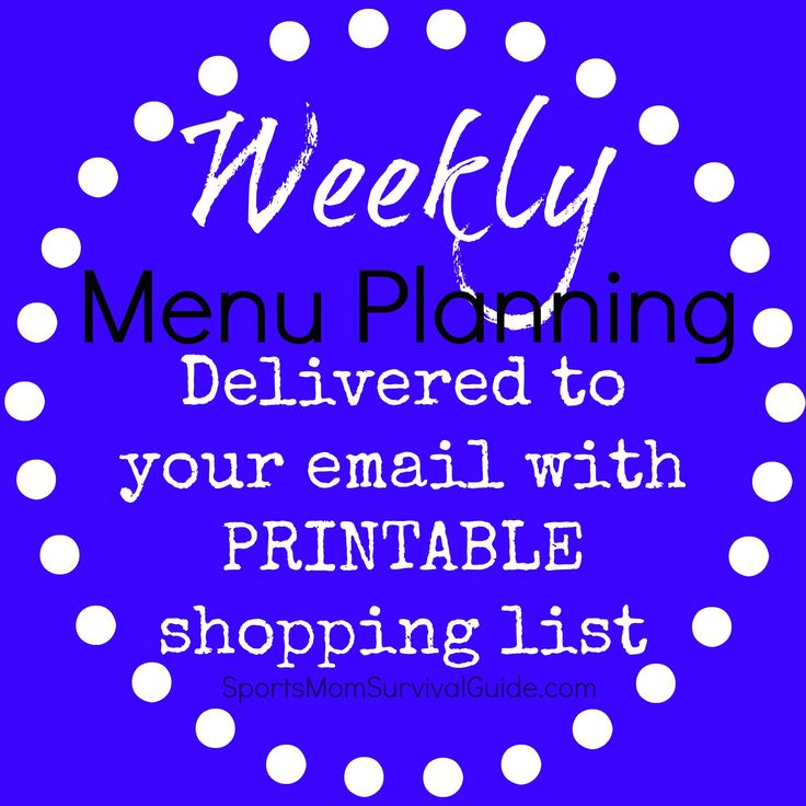 FREE Weekly Menu Planning and PRINTABLE Grocery List! Great for busy families. A mix of quick meals and crockpot meals.